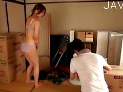 Redhead Japanese loves oral sex