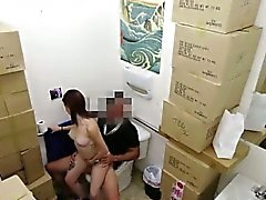 Cash strapped amateur babe fucks in pawn shop