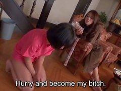 Altyazı Maki Hojo ve Saaya Takazawa femdom cehennem