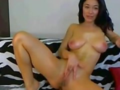 Skinny MILF Huge Natural Boobs Rubbing & Teasing