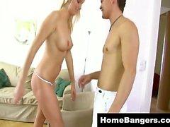 Hot blonde girl from next door fucked