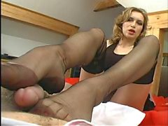 nylon minnaar , met footjob
