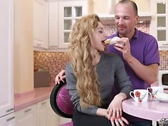 Sonia Sweet is with her boyfriend in the kitchen when she...