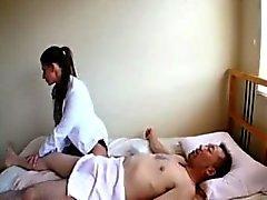 AMWF Rachel Roxxx inter com o cara asiáticas