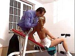 Laure Sainclair - Fucked in apparatus gymnastics