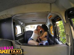 Female Fake Taxi Driver cums in gorgeous fitness babes mouth