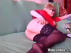 Fat Blonde GF Giving Head Dressed
