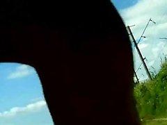 POV Outdoor Blasen mit einer herrlichen Brunette gf