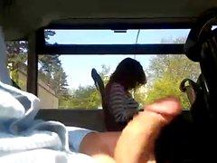 im bus abgewichst