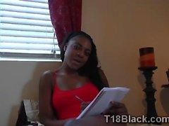 Stud helps hot black gf to finish before her homework