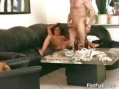 Gorgeous busty MILF gets that wet pussy part3