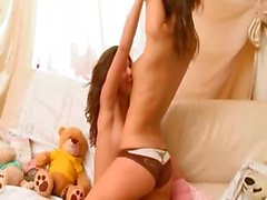 fine lesbo teens from Russia kissing
