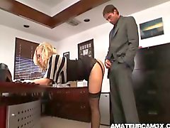 Hot secretary fucked by boss