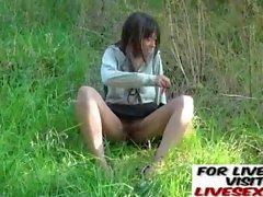 Public nudity and ebony amateur teens outdoor