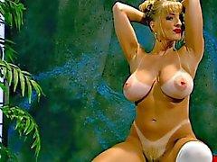 De Danni Ashe a fait un bon Striptease de ses tenue d'écolière