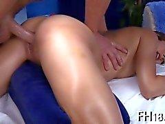 Teen Hottie rams herself against a big dick