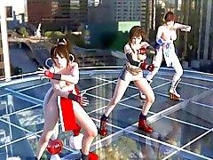 Tifa , Kasumi & Mai Dancing Topless