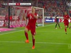 Robert Lewandowski Dringt VfL Wolfsburg (5-1)