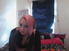 My wife masturbate on a webcam