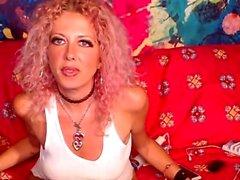 Brunette milf hard masturbation webcam
