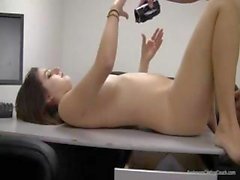 Gorgeous Teen In Back Room