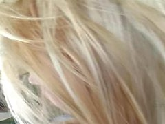 Petite blonde and blue teen POV with big black dick