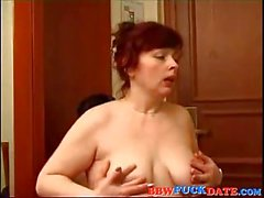 BBW Mature Woman Is A Redhead Slut