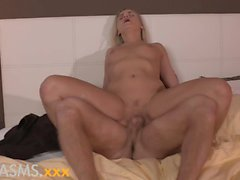 ORGASMS Fit body blonde fucks muscular hunk