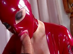 Anal and latex FFM threesome