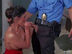 Bosomy wife Phoenix Marie gets humped by hot officer