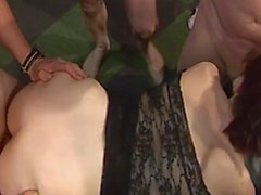 UK swingers gangbang party video