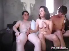 Two friends lose their virginity with nasty girl