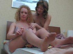 Teen Lesbians in pantyhose