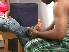 Sasha ebony foot worship