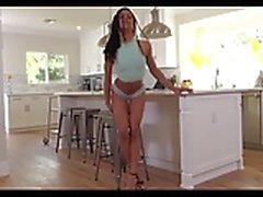 Sexy Ebony Strips and Masturbates in heels