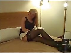 White Slut Getting Big Black Cock
