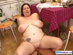 BBW housewife cheating with young dude