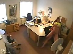 Office fuck with her employer