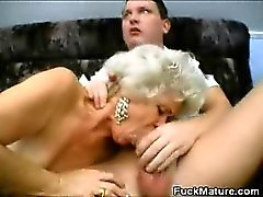 Blonde Mature Ladies Sharing a Cock