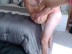 Smooth amateur blond hardcore bonking före ansiktsbehandling