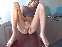 Crystal Klein Masturbates At Office
