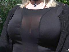 LA NOVICE - Hardcore pussy drilling for sweet curvy French amateur Emma Blanc