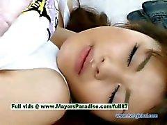 Yuzuru innocent beautiful japanese girl gets nipples licked and teasing
