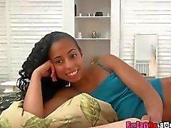 Horny Ebony Teen Sneaks a guy In Her Room