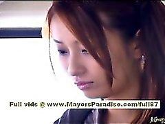 Ordonnateur national Yoshizaki sexy étudiant asiatique du bus