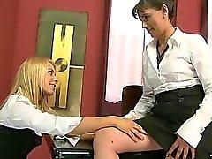 Teen secretary enjoys sex with her mature boss