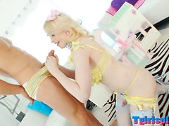 Lustful TS Sarina Valentina in lingerie anal pounded