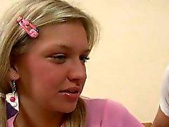Beautiful hottie is surrending her virginity