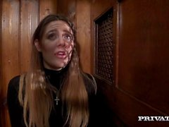 Samantha Bentley Gets a Huge Facial in I Confess