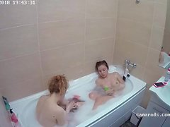 Young Lesbian make a shower Reallifecam Voyeur
